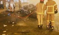 خودروها بعد از تصادف آتشگرفتند | ۲ کشته و ۶ مجروح