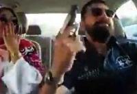 واکنش پلیس به ویدئو مسلحانه بازیگر معروف و همسرش +عکس