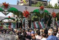 مراسم تشییع پیکرهای ۱۵۰ شهید دوران دفاع مقدس برگزار شد
