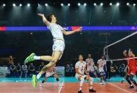 آمار بازی تیمهای ملی والیبال روسیه و فرانسه/ سد محکم روسها در دفاع