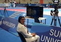 اولین قضاوت بانوی ایرانی در مسابقات جهانی تکواندو