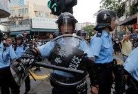 Hong Kong protesters clash with police on border with mainland China