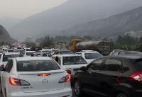 ترافیک سنگین در محور چالوس/ ترافیک نیمه سنگین در شهریار - تهران
