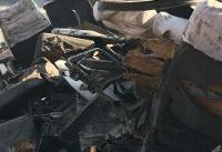 مرگ حداقل ۶ تن در تصادف اتوبوس با خودروی حامل سوخت