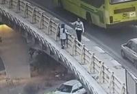مامور پلیس راهور خانمی که قصد خودکشی داشت را نجات داد