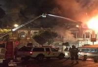 آتش سوزی در میدان حسن آباد
