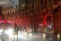 آتش سوزی در میدان حسن آباد مهار شد