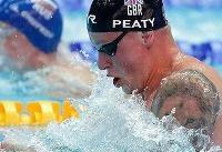 رکوردشکنی آدام پیتی در شنای قهرمانی جهان
