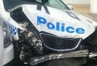 تصادف ون قاچاقچیِ سیدنی با چند خودروی پلیس