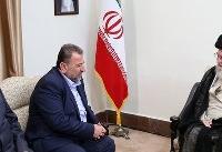 نایب رئیس دفتر سیاسی حماس و هیئت همراه با رهبر انقلاب دیدار کردند