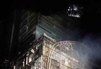آتش سوزی در یک مجتمع تجاری در بلوار کوهک +عکس