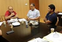 جلسه کاوه با محمد طلایی و همکارانش در تیم کشتی جوانان