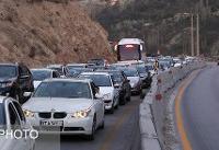 ترافیک سنگین در محور کرج