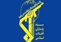 سپاه از توقیف یک 'شناور خارجی' در تنگه هرمز خبر داد