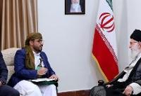 سخنگوی جنبش انصارالله یمن و هیئت همراه با رهبر انقلاب دیدار کردند