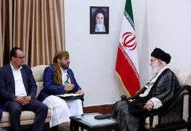 رهبری در دیدار هیات انصارالله یمن: با قدرت در مقابل سعودیها و اماراتیها بایستید