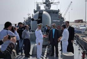 فرمانده نیروی دریایی ارتش از ناوشکن الوند بازدید کرد