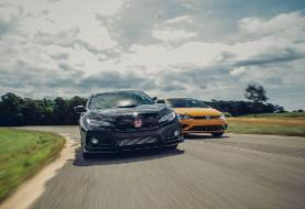 View Photos of the 2019 Honda Civic Type R and 2019 Volkswagen Golf R