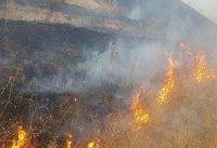 ۲۵ هکتار از اراضی و مراتع تکاب در آتش بی احتیاطی سوخت