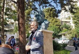 سردیس عزتالله انتظامی رونمایی شد/ عکس