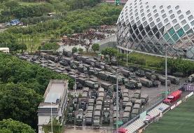 Chinese police hold drills near Hong Kong border