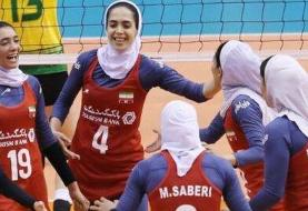 صعود زنان والیبالیست ایران به جمع ۸ تیم