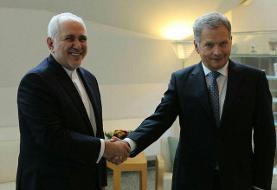 دیدار ظریف با رئیسجمهور فنلاند