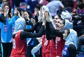 ایران ۳ - هنگکنگ صفر/ صعود بانوان والیبالیست ایران به جمع ۸ تیم