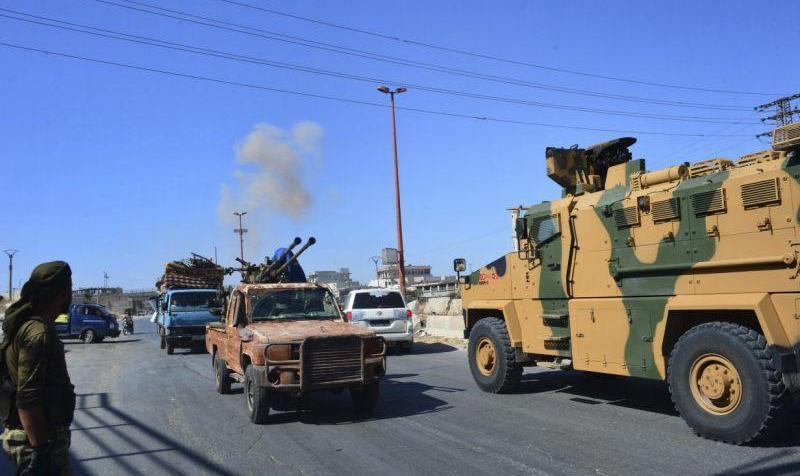 Airstrikes target Turkish convoy in Syria, raising tensions