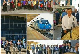 ورود نخستین قطار گردشگری به ملایر همدان (+عکس)