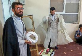 (تصاویر) مراسم عمامه گذاری طلاب در عید غدیرخم