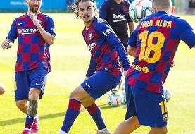 پایان مصدومیت مسی و بازگشت به تمرینات بارسلونا/عکس
