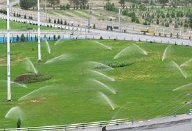 آبیاری بیش از ۵۸ درصد فضای سبز شهر تهران با استفاده از شبکههای آبیاری مکانیزه و تحت فشار