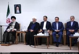 دیدار رئیسجمهور و اعضای هیئت دولت با مقام معظم رهبری (عکس)