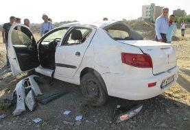 واژگونی یک سواری در آزادراه اصفهان- کاشان/ ۲ کشته