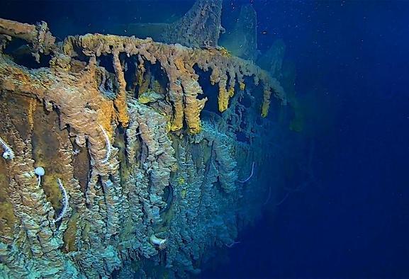 تصاویر جدید از کشتی تایتانیک غرق شده در عمق اقیانوس