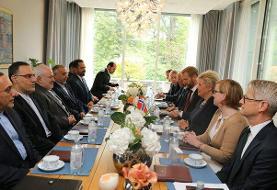 ظریف با نخست وزیر نروژ دیدار و گفتگو کرد