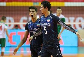 پیروزی نوجوانان والیبال ایران برابر بلغارستان