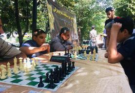 مسابقات شطرنج پارکی برگزار شد