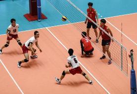پیروزی والیبالیست های نوجوان ایران مقابل بلغارستان
