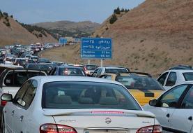 ترافیک سنگین در بخشهایی از جاده چالوس/ تردد پر حجم و روان در هراز