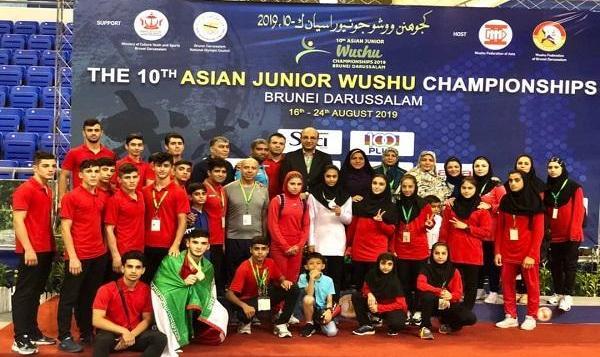 جوانان ووشوی ایران نایب قهرمان آسیا شدند