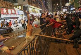 بزرگترین زنجیره انسانی معترضان در هنگ کنگ + ویدئو