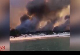 تصاویری از آتش سوزی مرگبار در یکی از جزایر کوئینزلند