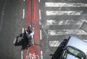 تصاویر بیقانونی موتورسواران در تهران