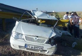 برخورد پراید با گارد ریل در سمنان/ یک نفر کشته شد