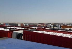 رانندگان عراقی برای حمل و نقل کالاهای ایرانی اعتصاب کردند