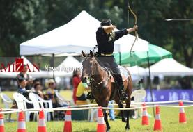 تصاویری از مسابقات کمانداران اسب سوار در چین