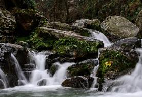 (تصاویر) آبشار هفتگانه پلکانی شیر آباد