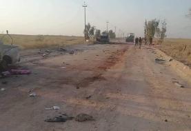 (تصاویر) حمله اسرائیل به خودروی فرمانده حشد الشعبی